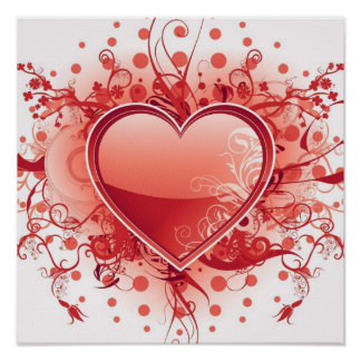 Affiche de conception de coeur d'Emo