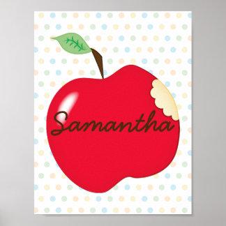 Affiche de crèche d'Apple avec le nom Poster