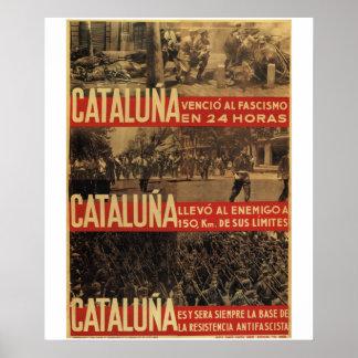 Affiche de defeated_Propaganda de fascisme de