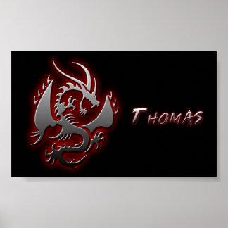 "Affiche de dragon-- ""Thomas """