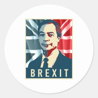 Affiche de Farage Brexit - - Sticker Rond