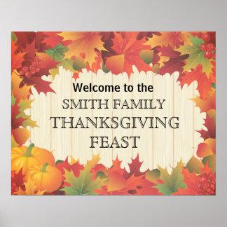 Affiche de festin de famille