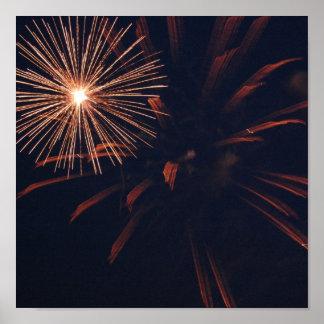 Affiche de feu d'artifice d'araignée