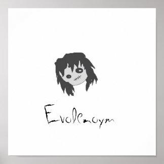 Affiche de fille d'Emo