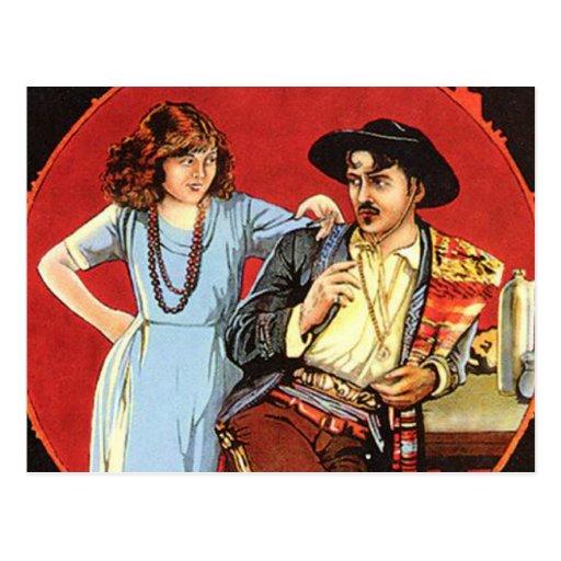 Affiche de film de jours d'écarlate carte postale