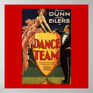 Affiche de film vintage d'équipe de danse 1932