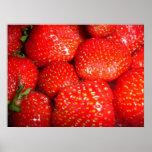 Affiche de fraises