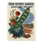 Affiche de jardin de victoire, guerre mondiale 2 1 carte postale
