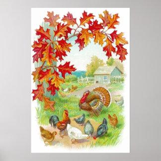 Affiche de jour de thanksgiving