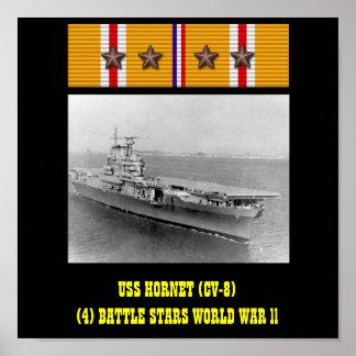 AFFICHE DE L USS HORNET CV-8