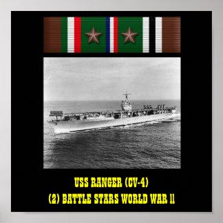 AFFICHE DE LA GARDE FORESTIÈRE D USS CV-4
