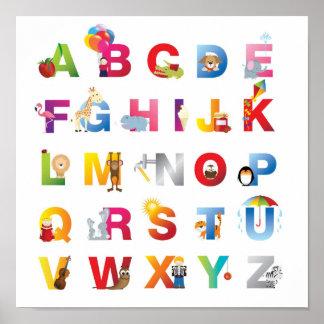 affiche de l'alphabet des enfants