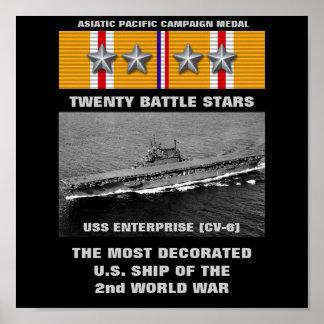 AFFICHE DE L'USS ENTERPRISE (CV-6)