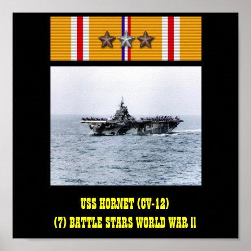 AFFICHE DE L'USS HORNET (CV-12)