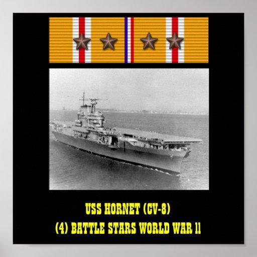AFFICHE DE L'USS HORNET (CV-8)