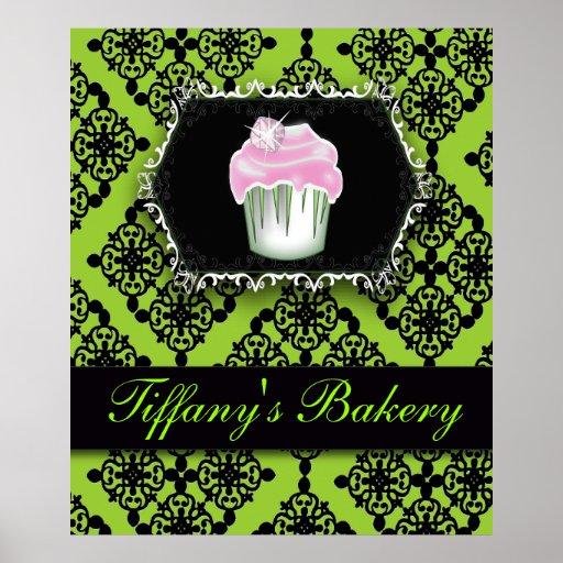 Affiche de luxe de vente de boulangerie de petit g