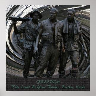 Affiche de mémorial de guerre de Vietnam