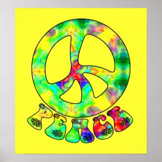 Affiche de paix d'enfant de fleur