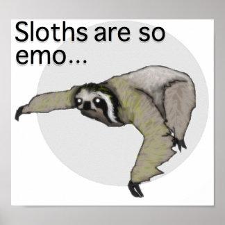 Affiche de paresse d'Emo