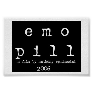 """affiche """"de pilule d'emo"""" (logo)"""
