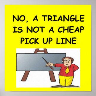 affiche de plaisanterie de geek de maths