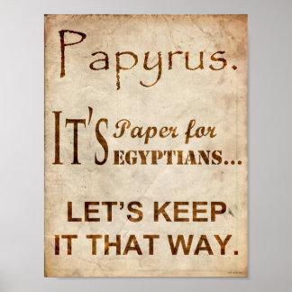 Affiche de plaisanterie de police de papyrus