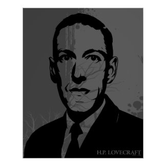 Affiche de portrait de HP Lovecraft