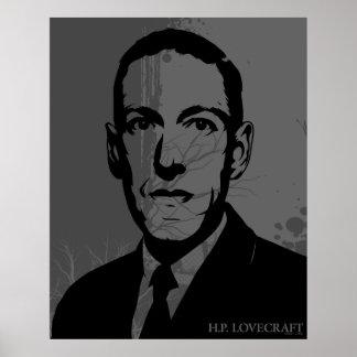 Affiche de portrait de HP Lovecraft