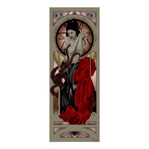 affiche de prêtresse de cthulhu