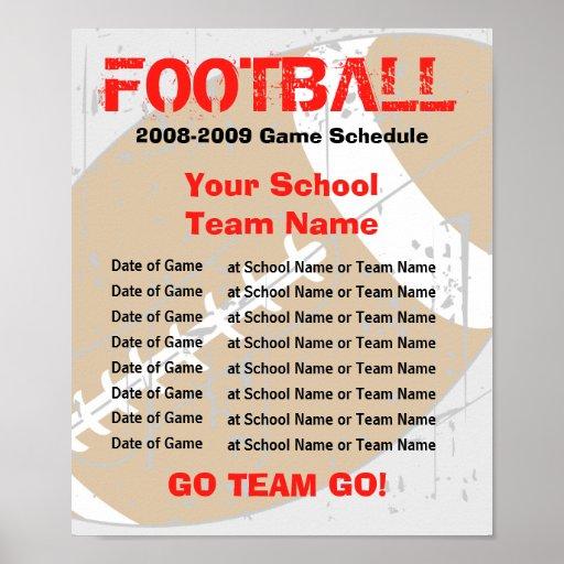Affiche de programme du football - modèle