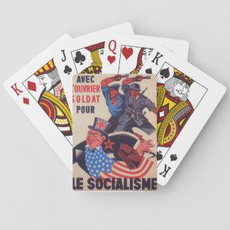 Affiche de propagande d'AVEC Jeux De Cartes