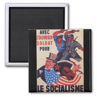 Affiche de propagande d'AVEC Magnet Carré