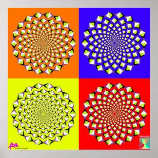 Affiche de quatre carrés