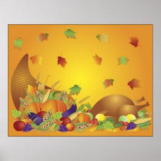 Affiche de récolte de bon thanksgiving