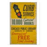 Affiche de service de restriction de bibliothèque  cartes postales