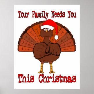 Affiche de thanksgiving de la Turquie