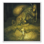 Affiche de Troll de vieil homme de John Bauer