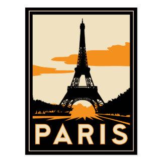 affiche de voyage d'art déco de Paris rétro Cartes Postales