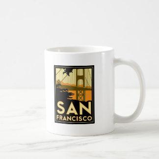 Affiche de voyage d'art déco de San Francisco Tasse