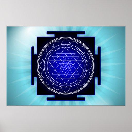 affiche de yantra de sri