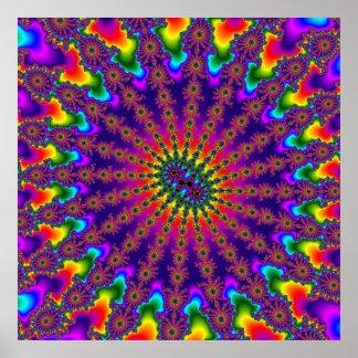 Affiche d'éclat de fractale d'arc-en-ciel