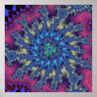 Affiche d'éclat de fractale de Seafoam