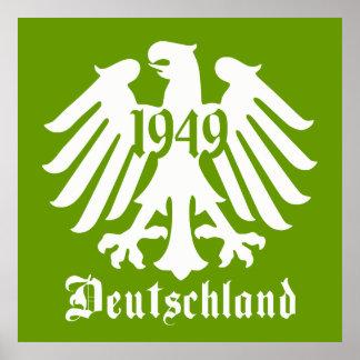 Affiche d'emblème d'Eagle d'Allemand du Deutschlan