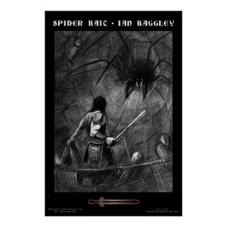 Affiche d'imaginaire d'amorce d'araignée