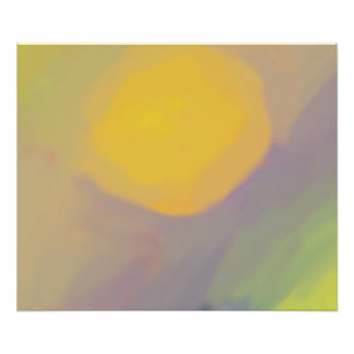 Affiche d'or abstraite de Sun (24x20) Photographie D'art