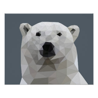 Affiche d'ours blanc