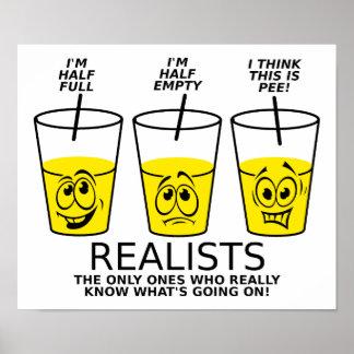 Affiche drôle de tasse réaliste