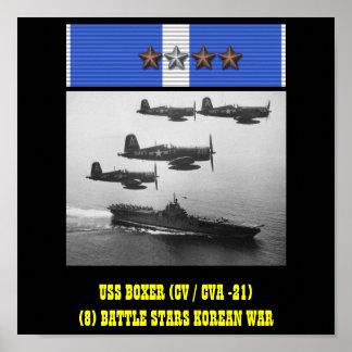 AFFICHE DU BOXEUR D USS CV CVA -21