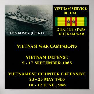 AFFICHE DU BOXEUR D USS LPH-4