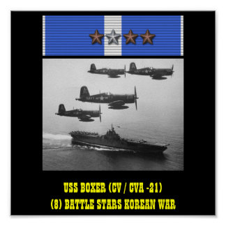 AFFICHE DU BOXEUR D'USS (CV/CVA -21)